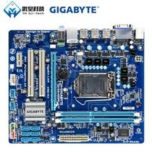Gigabyte GA-H55M-S2V Intel H55 Original utilisé carte mère de bureau LGA 1156 Core i7 i5 i3 DDR3 8G SATA2 USB2.0 VGA DVI micro-atx