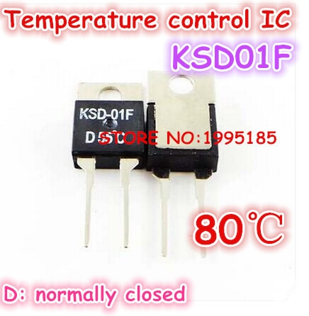 5 pçs/lote KSD01F D80 80 graus 80 ° C de Temperatura de controle IC TO220