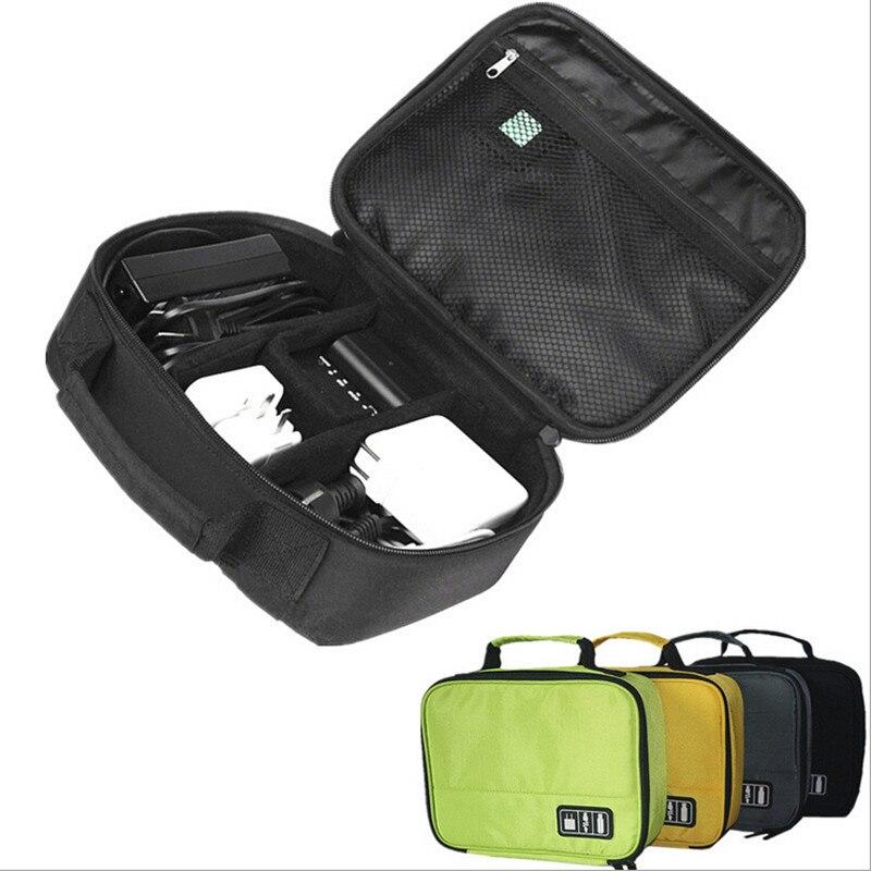 Digital portátil accesorios Gadget dispositivos Organizador de cargador de Cable USB bolso...