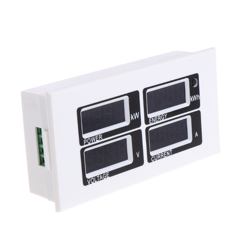 Amperímetro Digital 4 en 1, voltímetro de vatios, medidor de energía CA 80-260V 100a PZEM-004