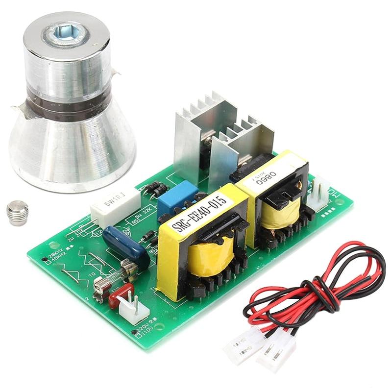 Limpiador ultrasónico de transductor de limpieza, 100w, 28khz, alto rendimiento + placa controladora de potencia, 220V CA, piezas de limpiador ultrasónico