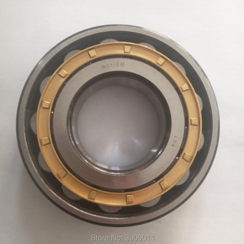SHLNZB تحمل 1 قطعة N2220 N2220E N2220M N2220EM N2220ECM C3 100*180*46 مللي متر النحاس قفص محامل البكرة الأسطوانية