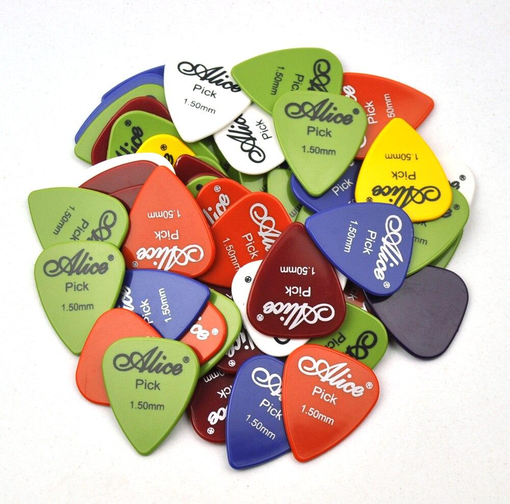 100 pcs Extra Pesados 1.5 milímetros Alice Suave ABS Picaretas Da Guitarra Plectrums Para Guitarra Baixo Elétrico