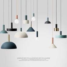 Nordic Creatieve Combinatie Cafe Aluninum Hanglamp Moderne Korte Diy Home Decor Woonkamer E27 Lamp Hanglamp Armatuur