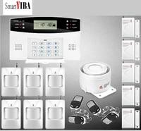 SmartYIBA systeme dalarme anti-cambrioleur   Securite domestique  sans fil  GSM  capteur de porte et fenetre  russe  francais  espagnol et italien