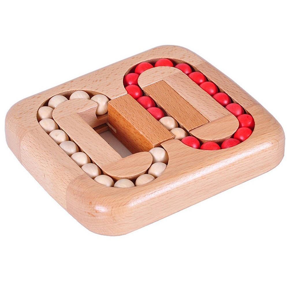 Деревянный шар лабиринт головоломка замок заусенцы головоломки головоломка IQ интеллектуальные игрушки для детей От 6 до 10 лет