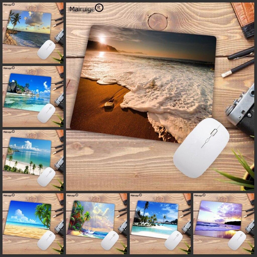 Большой рекламный коврик для мыши Mairuige с принтом пляжной ладони, настольный игровой коврик для мыши, Размер x 2 мм, маленький коврик для мыши