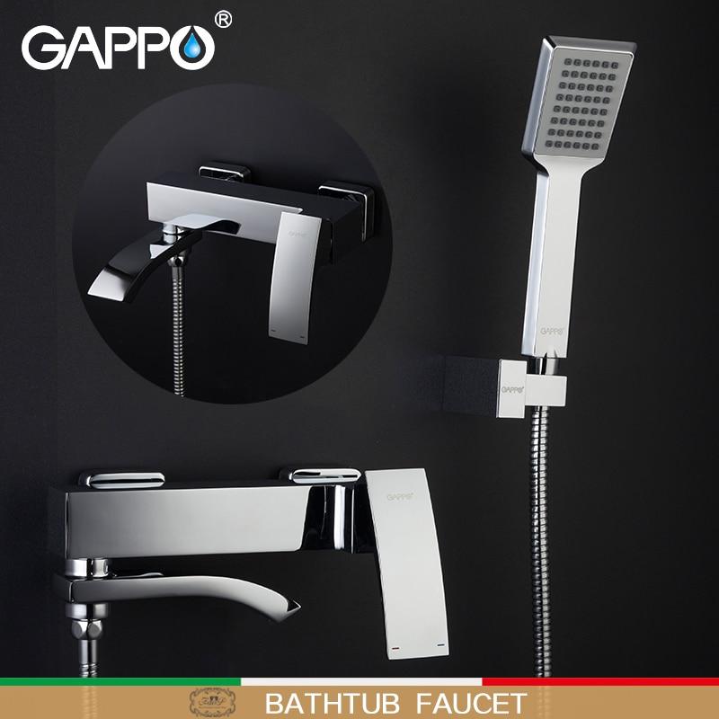 GAPPO-حنفيات دش الحمام, حنفية دش نحاسية ، خلاط شلال ، حنفية حوض الاستحمام ، حنفيات خلاط دش مثبتة على الحائط