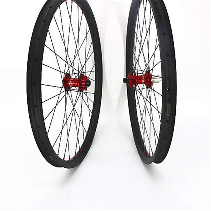 29er ruedas de bicicleta de montaña sin cámara AM 33x30mm interna 26mm asimetría ruedas de bicicleta de montaña e 29 ruedas de carbono 100 hope 4 boost 110 148