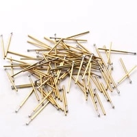 100pack metal probe fittings p50 d2 probe nickel plated long 16 55mm electronic detection test probe electronmetal tools
