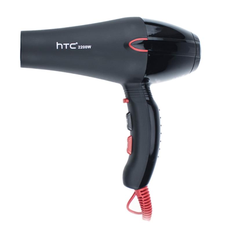 ¡Oferta! Secador de pelo profesional Htc de iones negativos, secador de pelo de 2200W, secador de pelo súper aire caliente y frío, salón de peluquería H