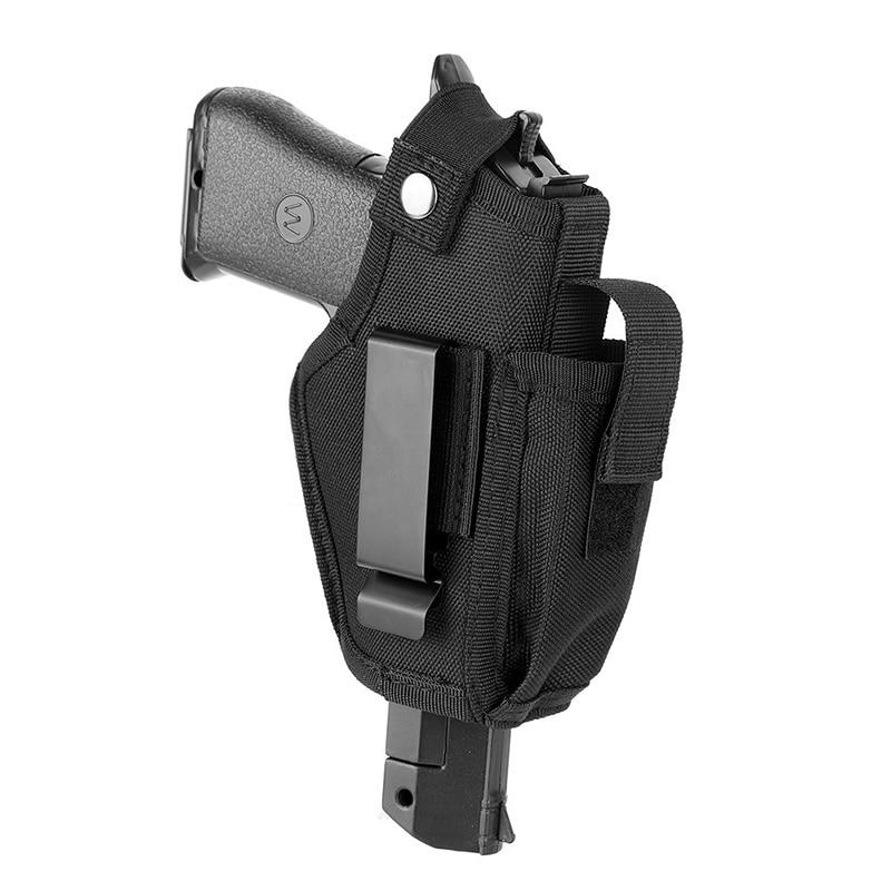 Funda de pistola con Clip de Metal oculto, artículo de caza para todas las tallas