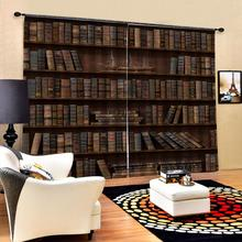 Rideau occultant bibliothèque rideaux photo occultant fenêtre rideaux luxe 3D rideaux pour salon chambre bureau