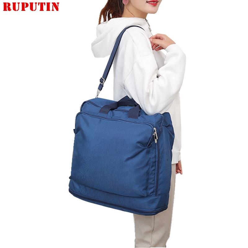 RUPUTIN Portable Travel Bag Large Capacity Outing Organizer Shoulder For Men And Women Luggage Package Handbag