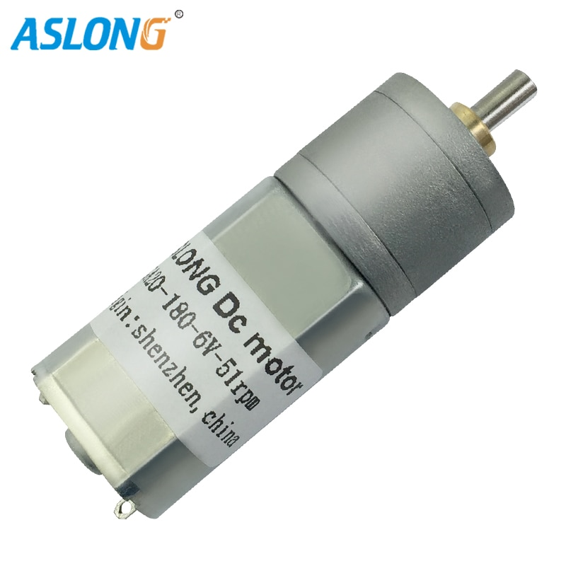 ¡3 unids/lote! ASLONG JGA20-180 6V DC orientado Motor Mini DC Motor 20 rpm-400 rpm