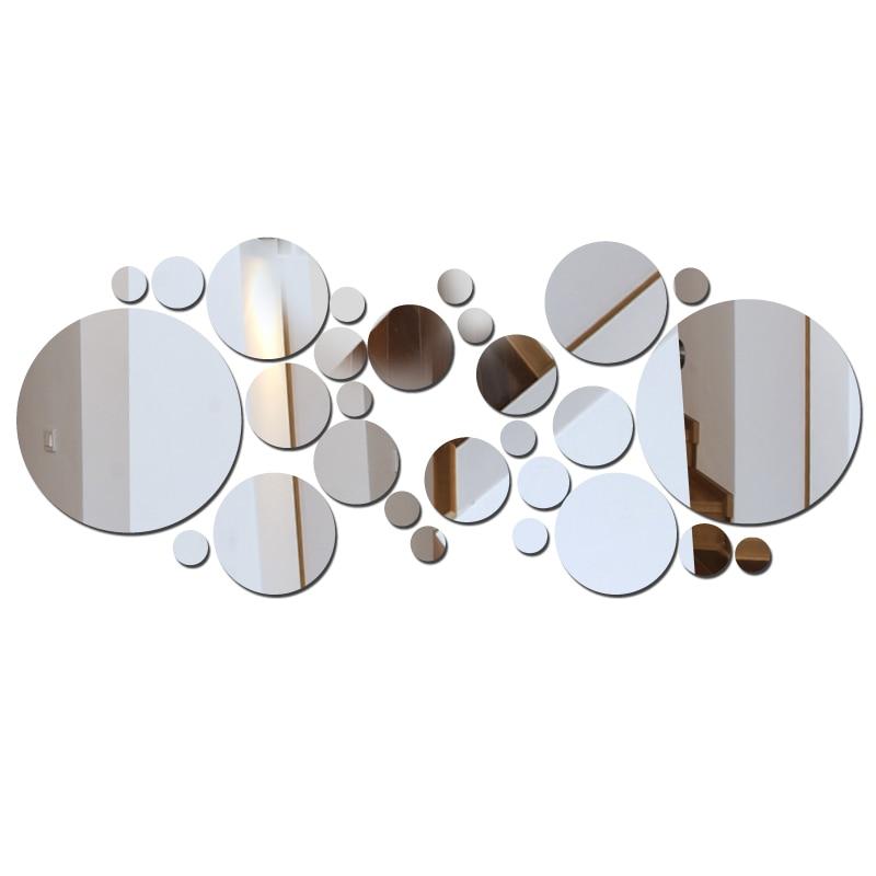 Top mode acryl spiegel oberfläche aufkleber Anwendung moderne dekoration wohnzimmer muster diy wand aufkleber