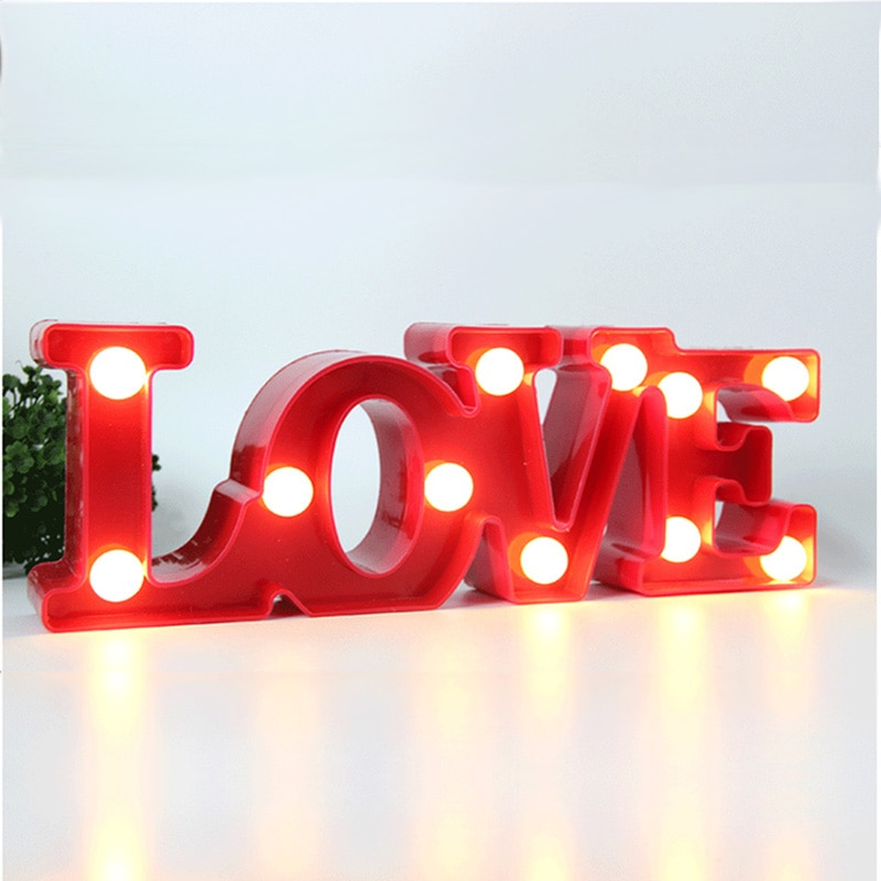 Светодиодный ночник с надписью «love'» красного цвета, подарок на день Святого Валентина, товары для свадебной вечеринки, декоративная фотобудка для девочек