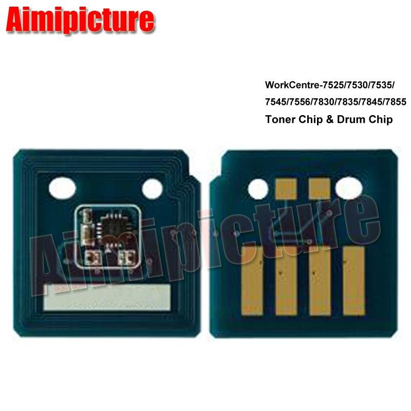 006R01513 006R01516 006R01515 006R01514 tóner Chip para Xerox 7525, 7530, 7535, 7545, 7556, 7830, 7835, 7845, 7855 chip 12 unids/lote