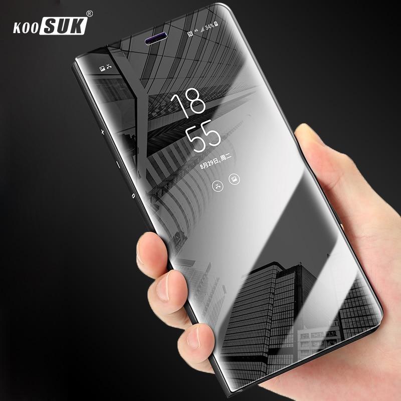 S6 Чехол для Samsung Galaxy S6 Крышка для Edge Plus зеркальный Роскошный прозрачный флип-чехол для телефона Samsung S 6 Edge G9280 G9250 G9200 чехол