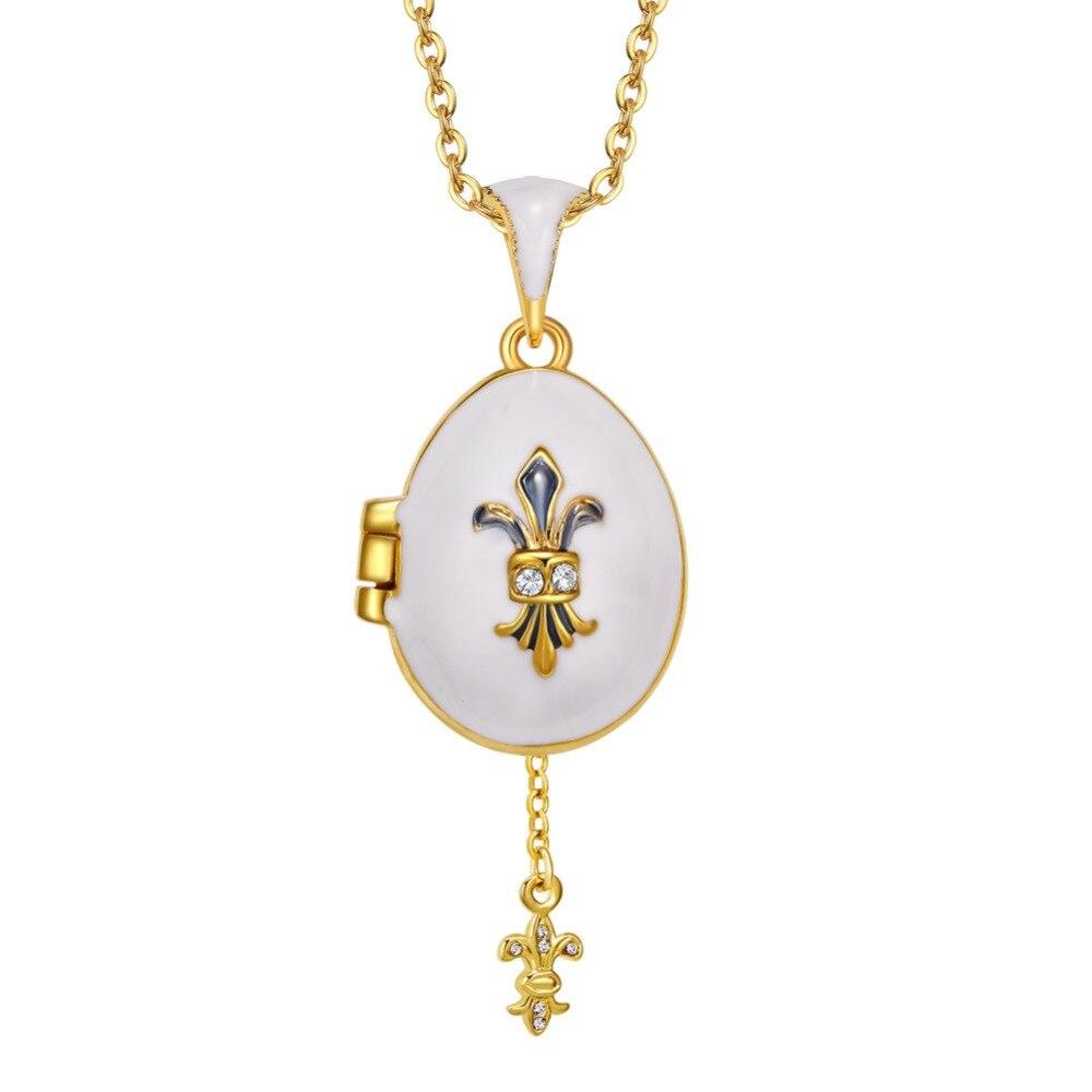 Emaille Handgemachten Schmuck Medaillon Messing Vintage Ei schwert Anhänger Kristall Halskette Geschenk Frauen mädchen Zwei methoden von tragen
