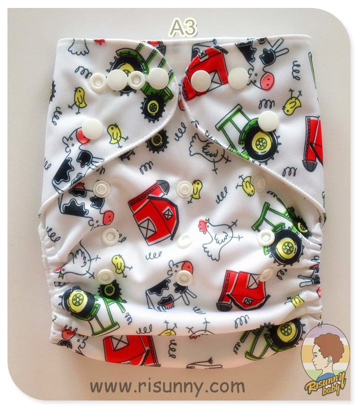 super soft minky printed baby one size pocket diaper with double leg gusset breathable diaper nappies with bamboo charcoal inner Risunnybaby Cloth Diaper + Bamboo Insert 5 Layer Baby Cloth Diaper Fit 3-15kg Baby Diaper Washable Adjustable Reusable Nappies