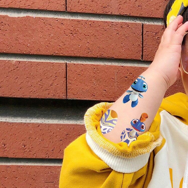 Atacado Estilos Da Caixa do Ovo Plano Serial Pequeno Monstro Kid Crianças Braço tatuagem temporária À Prova D Água Etiqueta Do tatuagem Do Corpo 500 pcs