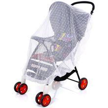 Mesh Buggy Crib Netting Cart Mosquito Net Pushchair Full Cover Netting Infants Baby Stroller Mosquito Net Safe