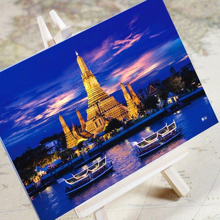 """6 unids/lote """"Encantador series de la ciudad-Bangkok"""" postal/tarjeta de felicitación/tarjeta de deseos/regalos de navidad"""
