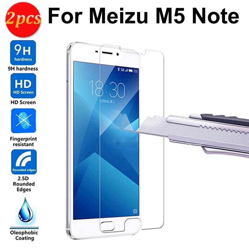 Para Meizu M5 Note Protector de pantalla 2.5D vidrio templado premium a...