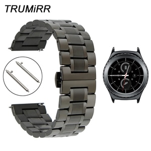 20mm Stainless Steel Watch Band Quick Release Strap for Samsung Gear S2 Classic R732 / R735 Moto 360 2 42mm Men Wrist Bracelet