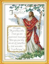 Kit jésus (6) broderie   Sur toile DMC, Kits de point de croix chinois comptés, ensemble de point de croix imprimés, broderie