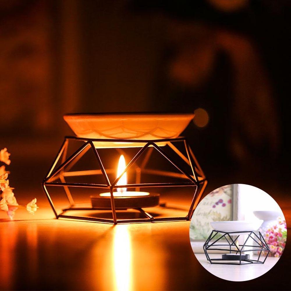 50 ^ 40 ^ Edelstahl Ölbrenner Kerze Aromatherapie Öl Lampe Hause Dekorationen Aroma Ofen # T2