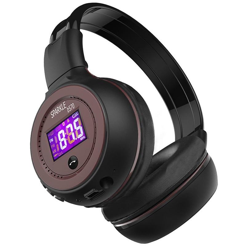 ZEALOT-سماعة رأس لاسلكية مزودة بتقنية البلوتوث ، وسماعة رأس استريو فائقة الجهير مع بطاقة TF ، وتشغيل MP3 ، وراديو FM ، وسماعة بدون استخدام اليدين مع ...
