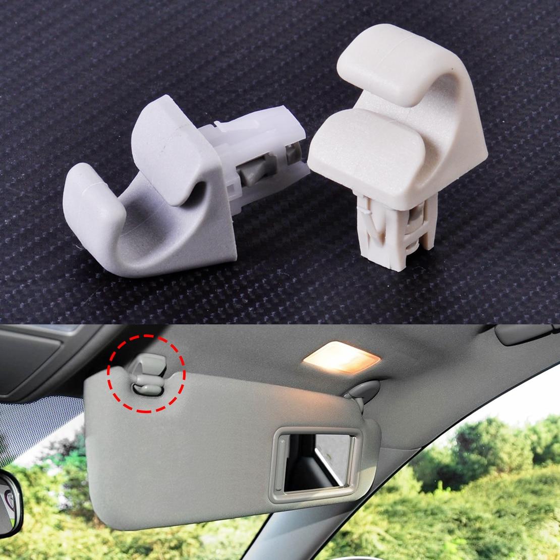 CITALL Kunststoff Sonnenblende Haken Clip Halterung Aufhänger Fit für Toyota Camry Corolla Corolla Matrix Highlander Prius RAV4 Solara