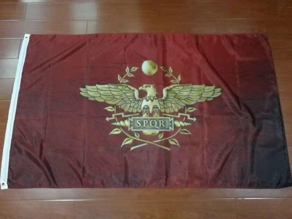 Xiangying 90x150cm spqr império romano senado e povo de roma bandeira