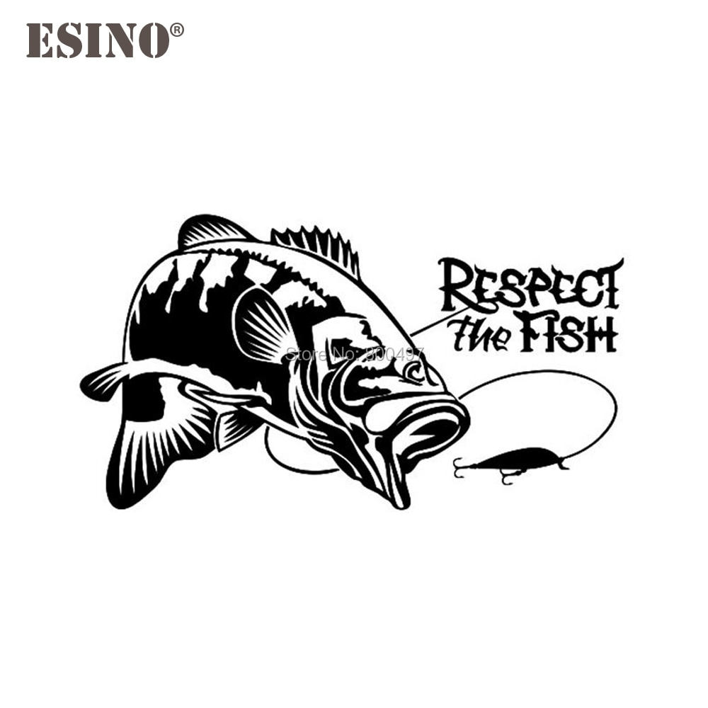 Car Styling New Fashion Style Decoration Car Accessory Respect The Fish Creative Reflective Stickers