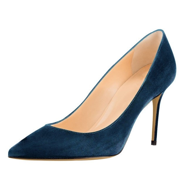 Sexy Solid Color Women Shoes High Heels 8.5cm Elegant Office Pumps Pointed Toe Luxury Singles D038A