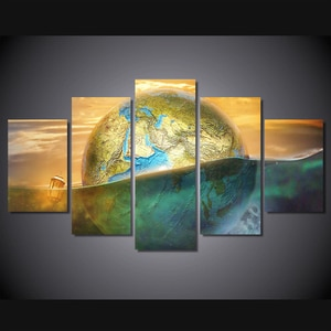 2017 5 Piece Canvas Art Painting On The Wall Modular Pictures Quadro Cuadros Decoracion For Living Room Hd Print Picture
