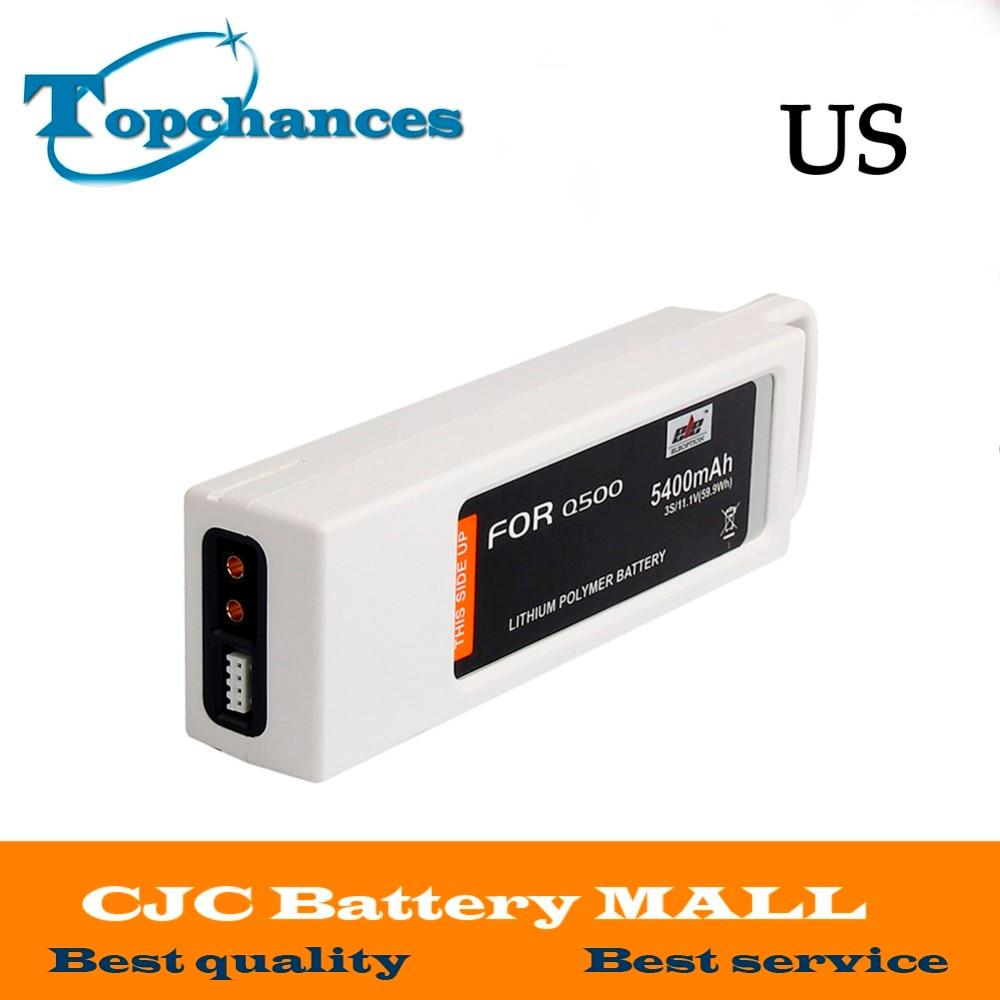 Высокое качество 5400 мАч 11,1 вольт Lipo батарея для Yuneec Q500 серии RC Drone 11,1 V 3 S/3 Cell