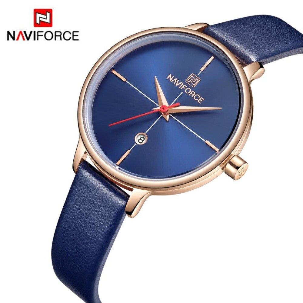 NAVIFORCE, relojes de marca superior a la moda para mujer, relojes de cuarzo de lujo para mujer con diamantes de imitación, reloj de pulsera informal para mujer, reloj sencillo