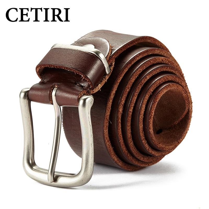 CETIRI Ceinture Homme Luxe Marque, дизайнерские мужские ремни, роскошный ремень из натуральной кожи в стиле ретро, повседневный ремень Faja