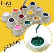 1 pot Lvmay marque couleur verte UV peinture Gel ongles vernis 12 couleurs bon prix tremper off ongle UV Gel