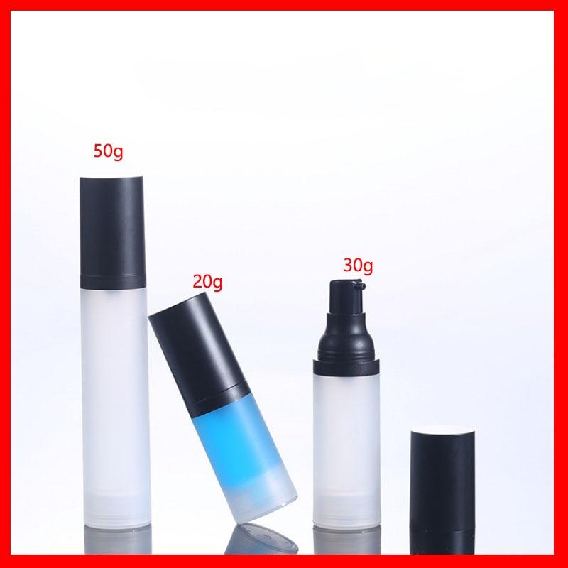 20ml 30ml 50ml empty Airless PET lotion pump refillable cosmetic emulsion plastic perfume bottle Cream Containers Vacuum  Vessel