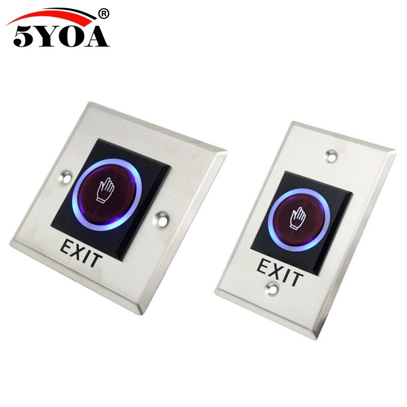 Interruptor infravermelho do sensor nenhum toque interruptores sem contato botão de saída da liberação da porta com indicação led