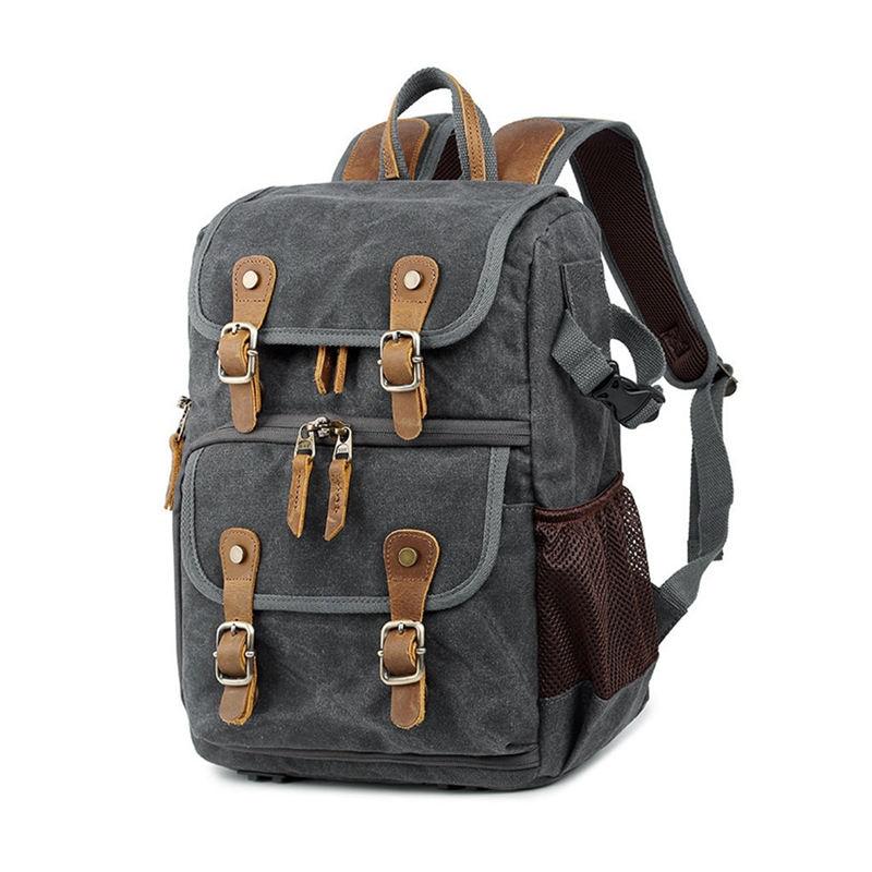 JABS alta capacidad tela de lona Batik fotografía mochila bolsa al aire libre impermeable Cámara hombro mochila para Canon para Mos