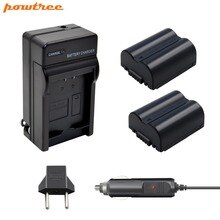 Powtree 1500 mAh CGA-S006 DMW-BMA7 CGR-S006E Remplacement Batterie + Chargeur Pour Panasonic Lumix DMC-FZ7 FZ8 FZ18 FZ35 FZ28 FZ38 L20