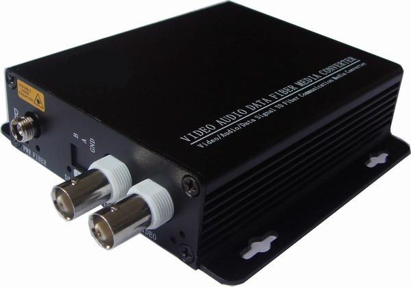 Convertidor de fibra óptica de vídeo HD AHD, transmisor de fibra óptica de vídeo de 2ch hd 720 P, de 20KM de modo único fibra única, puerto de fibra FC