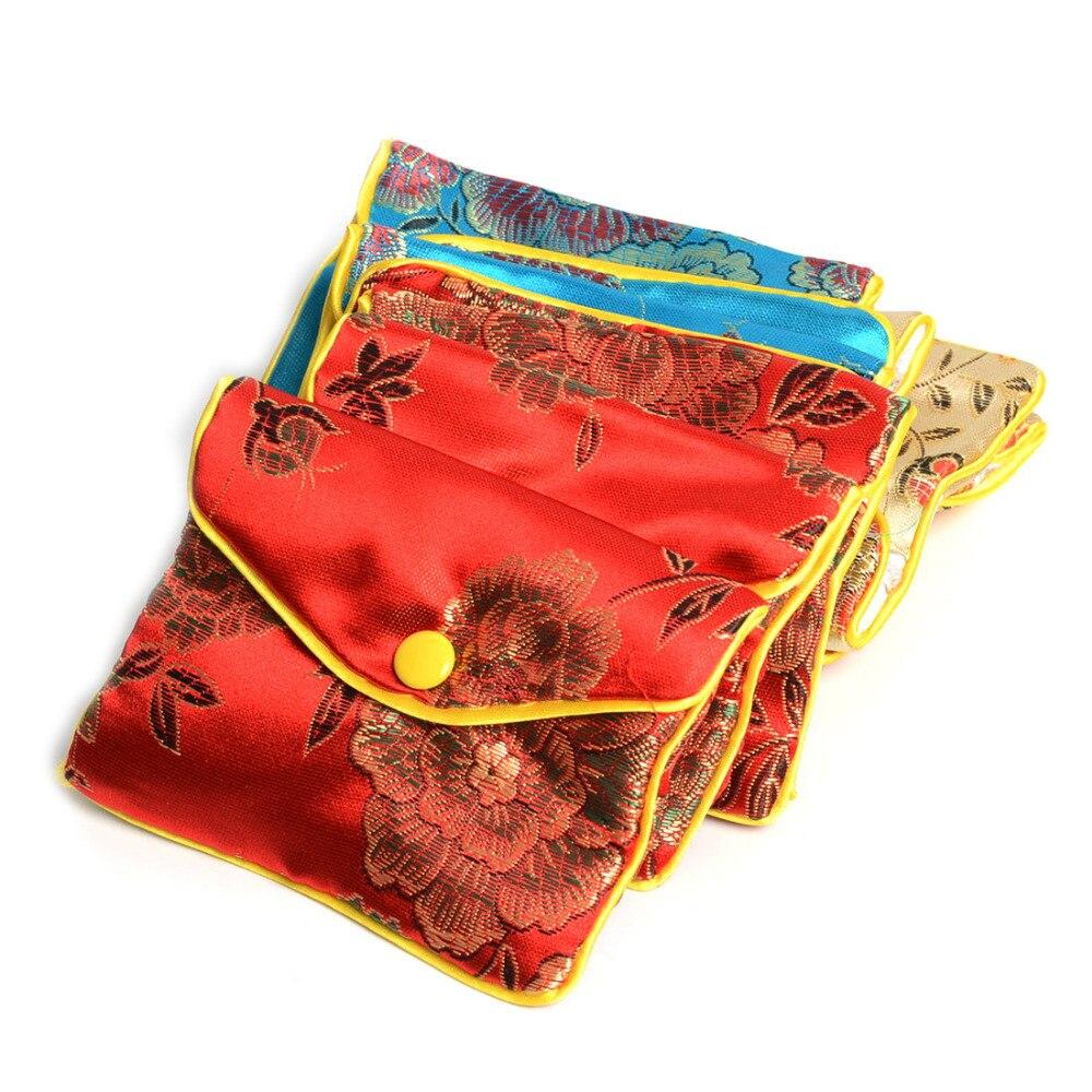 24 Uds. 6,5 Cm 8 *, bolsa de seda para embalaje de joyas de colores mezclados, bolsa de Navidad para bodas, bolsas de regalo para fiestas y bolsitas, bolsita, cadeau