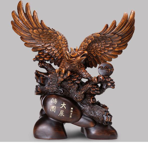 Futurista ecuestre, futuro brillante, el águila, artículos de decoración para abrir regalos, escritorio de oficina, arte abierto, estatua de armario de vino artesanal