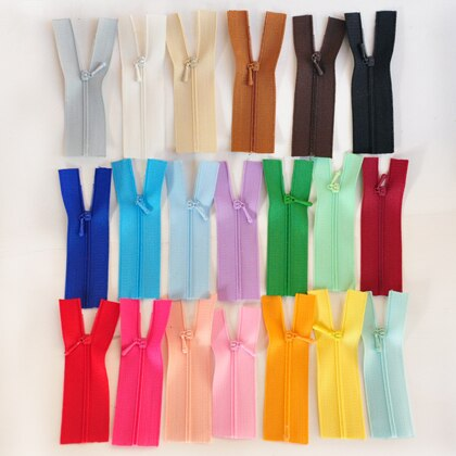 20pcs/lot 0# Mini Zipper Doll Clothing Zipper DIY Handmade Accessory Close-end doll Zipper For blyth Clothing 7CM length